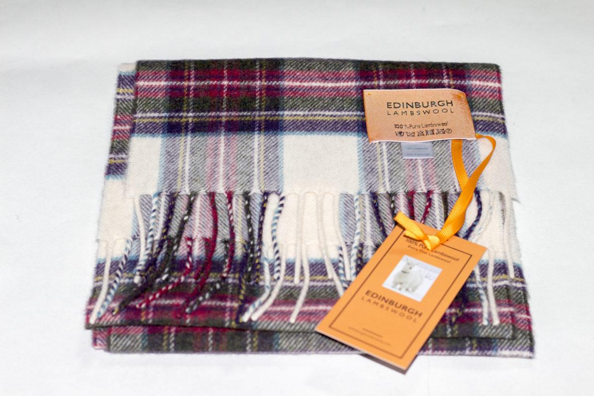 Hessian-Dress-Lambswool Scarf